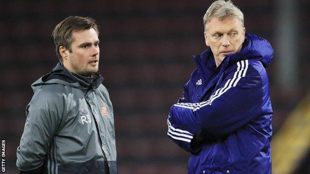 Robbie Stockdale (left) and former Sunderland boss David Moyes