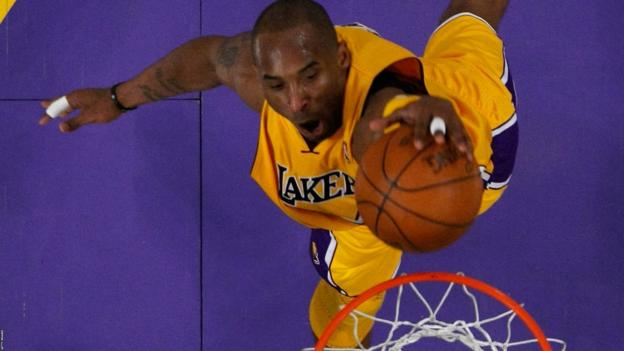 Kobe Bryant scores for Los Angeles Lakers