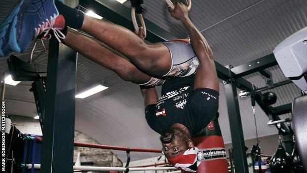 Chisora has been training in London for his bout with Usyk, which will take place with no fans present