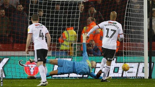 Cameron Dawson saves from David McGoldrick