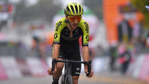 Adam Yates: Briton retains lead in UAE Tour as Dylan Groenewegen wins stage four