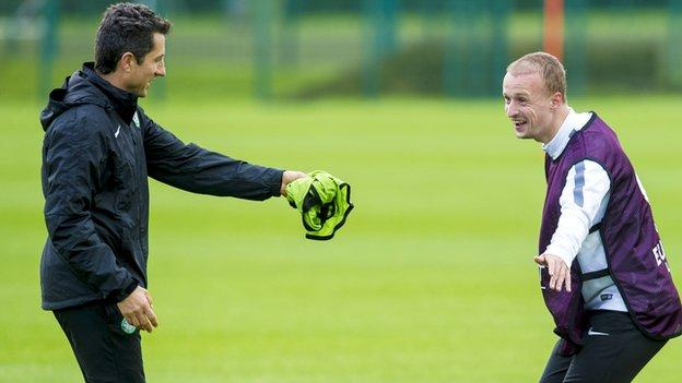 John Collins and Leigh Griffiths