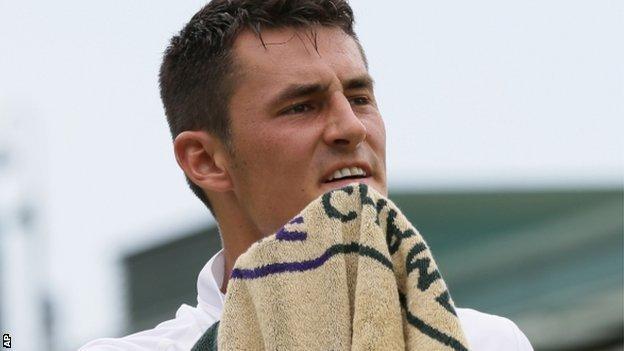Australian tennis player Bernard Tomic