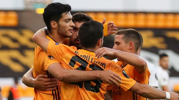 Wolverhampton Wanderers: Raul Jimenez eyes Europa League success after reaching quarter-finals - bbc