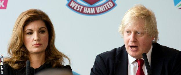 Karren Brady and Boris Johnson