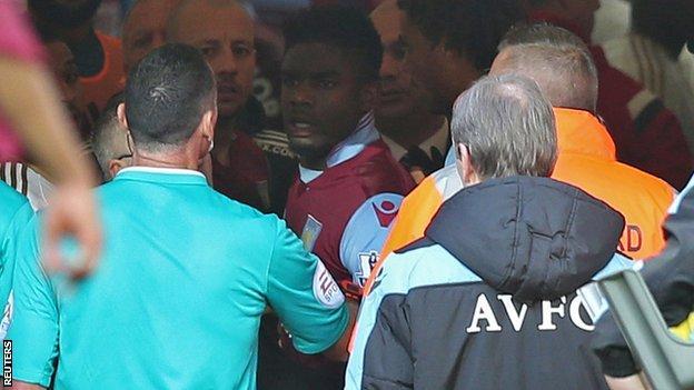 Villa v Swansea tunnel bust-up
