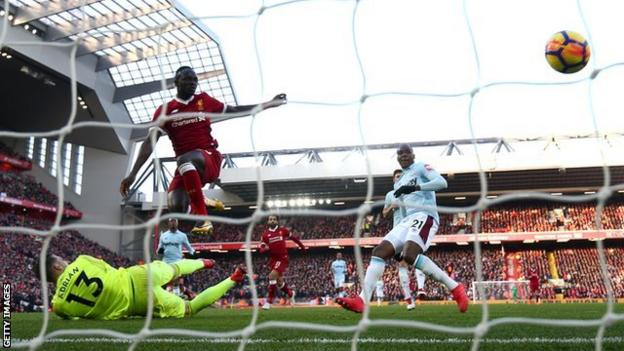 Sadio Mane has scored four goals in his past two Liverpool appearances