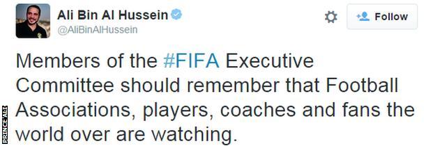Prince Ali bin al-Hussein tweet