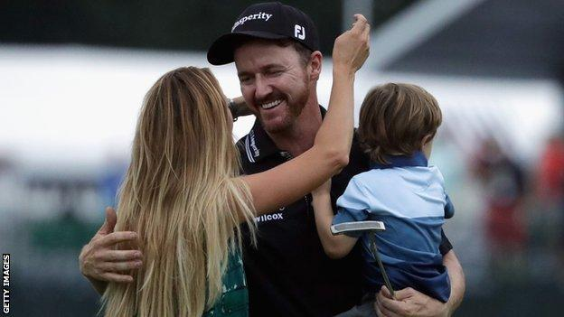Jimmy Walker celebrates with his family