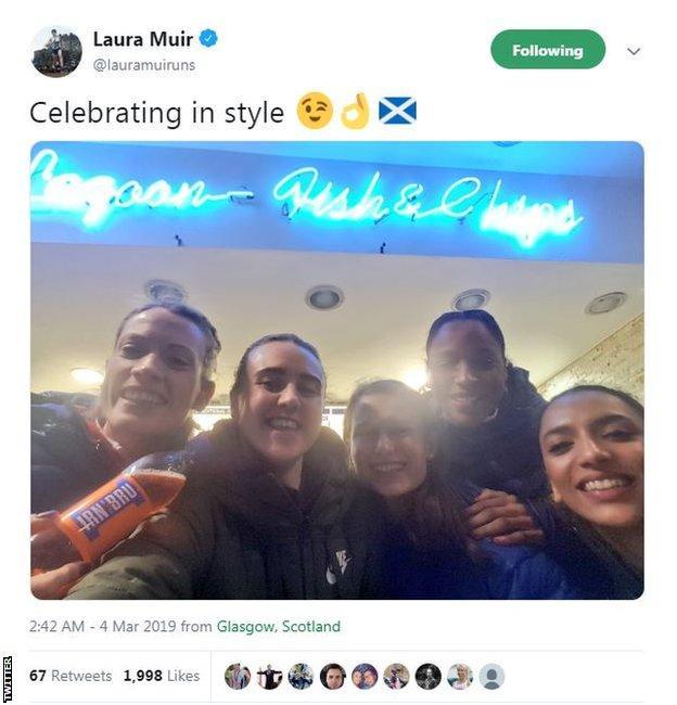Laura Muir tweet