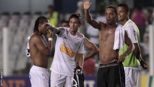 hollywood Ronaldinho and Neymar