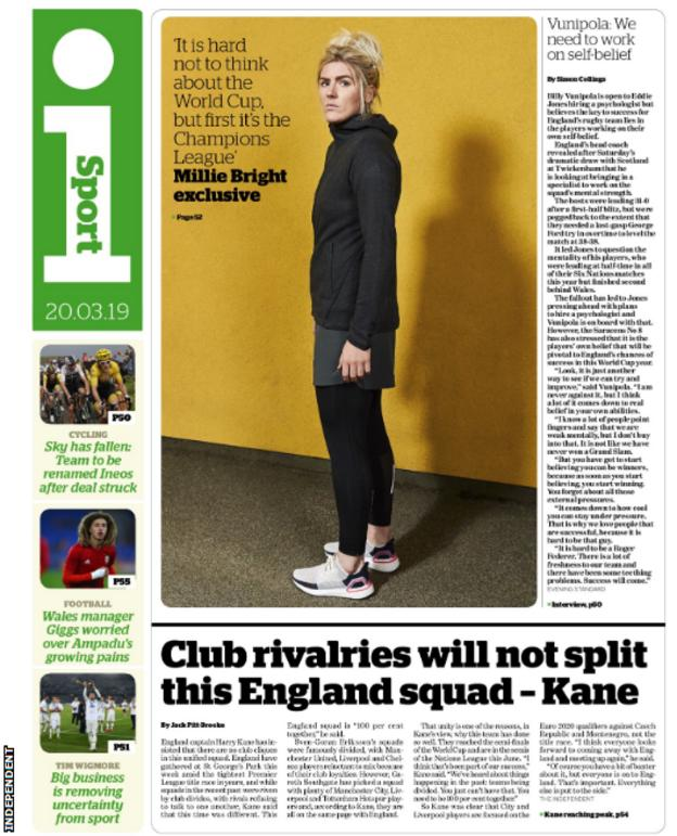 The Independent point to Kane saying club loyalty will not prove an issue in the England squad