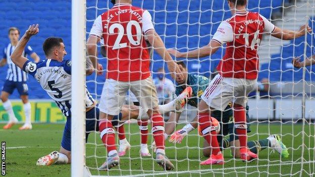 Lewis Dunk scores for Brighton
