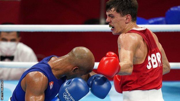 Pat McCormack wins boxing silver medal
