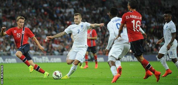 Jack Wilshere has played in 23 of England's 53 games since the start of the 2011-12 season - 43.3%