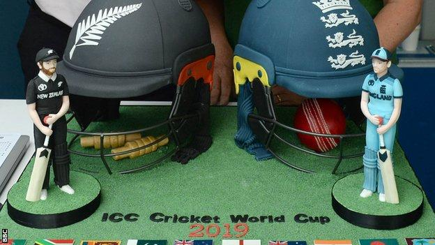The ICC Cricket World Cup cake