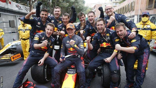 Max Verstappen and Red Bull celebrate