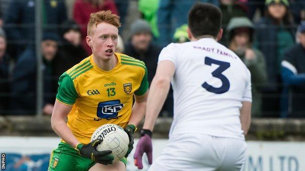 Oisin Gallen in action against Kildare on Sunday