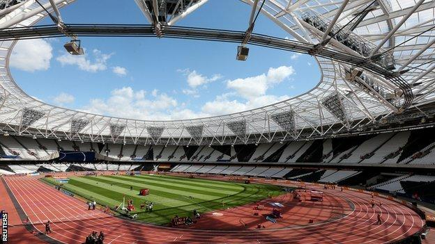 The Olympic Stadium in London