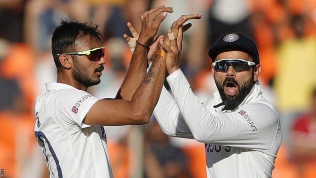 Axar Patel and Virat Kohli