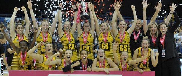Wasps celebrate their Superleague title win