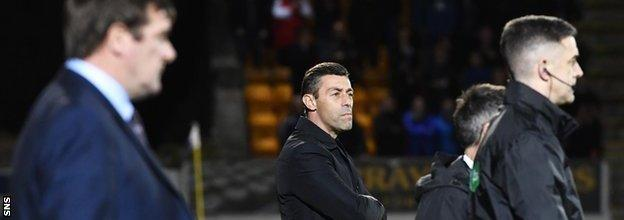 Rangers manager Pedro Caixinha on the touchline