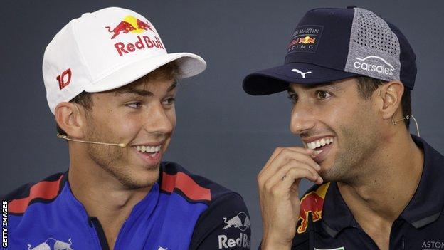 Pierre Gasly and Daniel Ricciardo