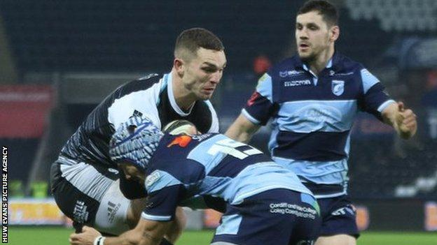 George North and Tomos Williams