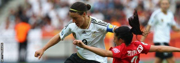 Brigit Prinz in action for Germany