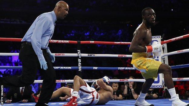 Khan was floored by the impressive Crawford in round one