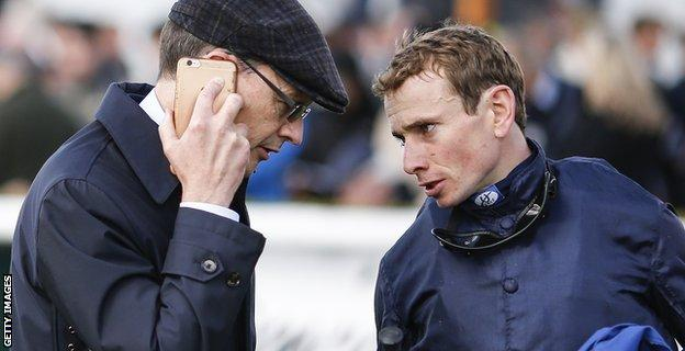 Trainer Aidan O'Brien and jockey Ryan Moore