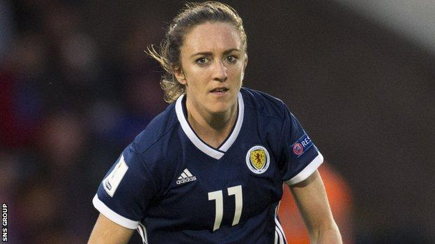 Lisa Evans is back in the Scotland squad after injury
