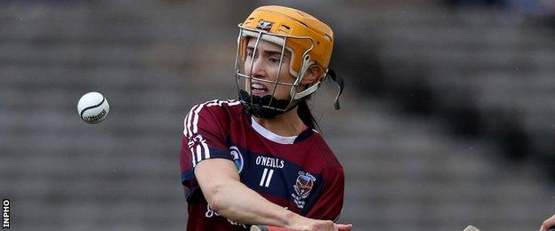 Tina Hannon scored 1-8 to help Slaughtneil beat Sarsfields in the 2018 final in Clones