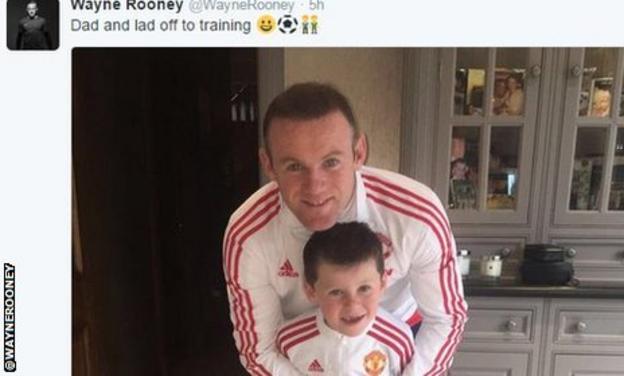 Wayne Rooney and Rooney junior