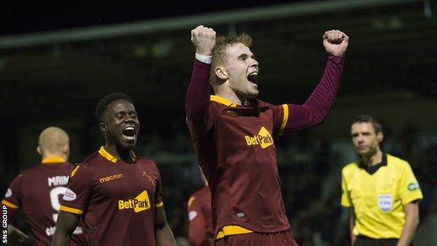 Chris Cadden scored the second Motherwell goal straight after the break