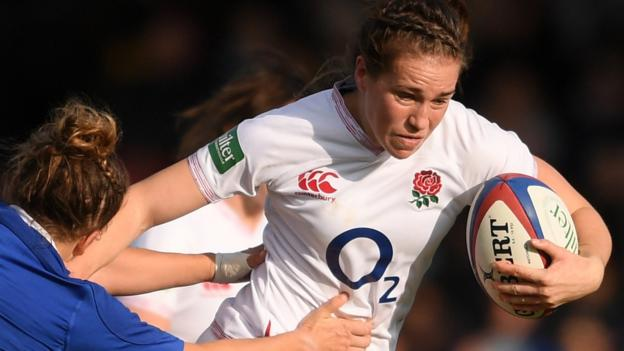 England 17-15 France: Red Roses win as Lydia Thompson scores late try thumbnail