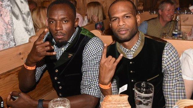 Usain Bolt and Germaine Mason