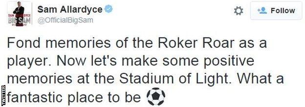 Sam Allardyce on Twitter