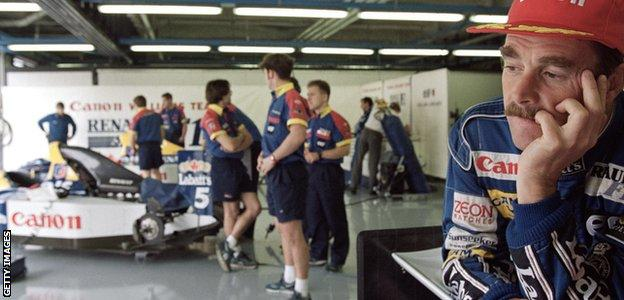 mansell at monza