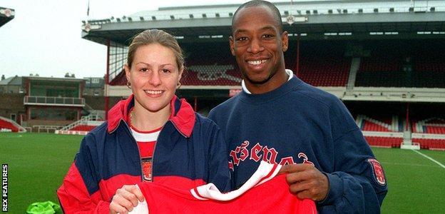Kelly Smith and Ian Wright