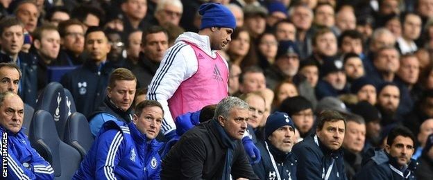 Costa was left on the Chelsea bench during their 0-0 draw at White Hart Lane