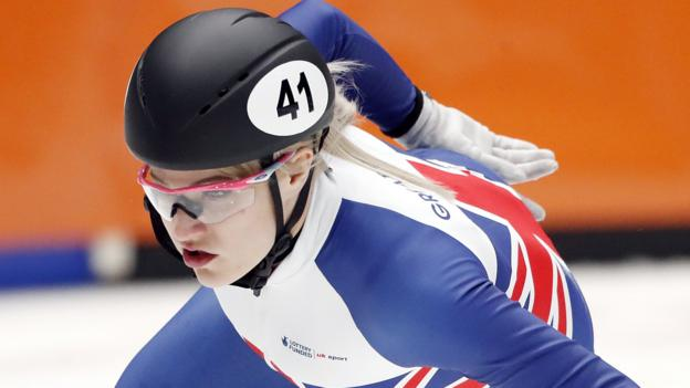 Speed Skating World Cup: Elise Christie wins 500m silver in Turin thumbnail