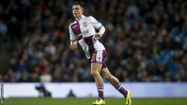 Jack Grealish makes his Aston Villa debut
