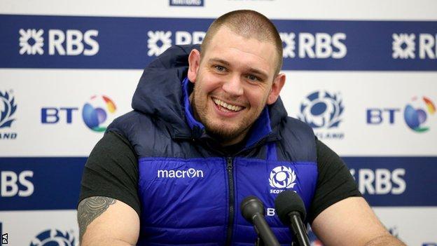 Scotland forward Gordon Reid