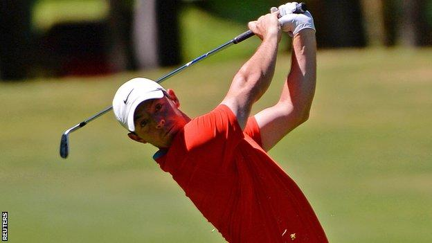 Rory McIlroy in first-round action in the WGC-Mexico Championship