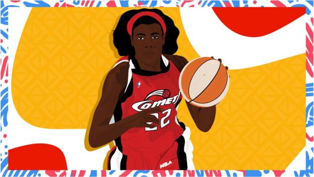 Illustrated image of Sheryl Swoopes