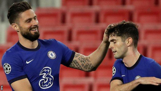 Olivier Giroud and Christian Pulisic