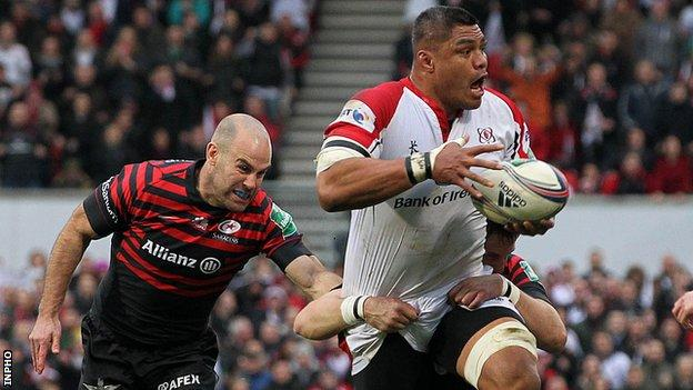Nick Williams was part of the Ulster team which lost to Saracens in the Heineken Cup quarter-final at Ravenhill in April 2014