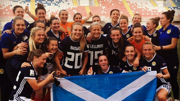 Scotland team celebrating