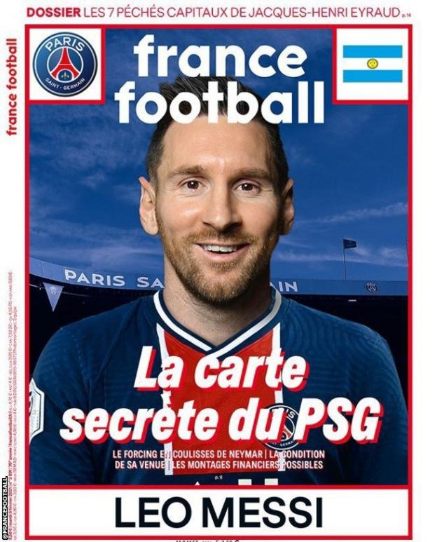 France Football magazine cover